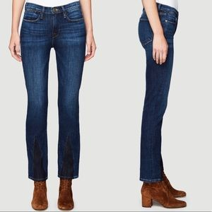 Frame Le High Straight Gusset Jeans in Bay Wash